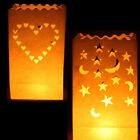 10 White Luminary Candle Lantern Bags (Paper)