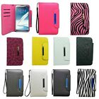 For Samsung Galaxy Note 2 N7100 Cover Wallet Flip Case Pouch Cell Accessory