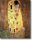 HUGE Gustav Klimt The Kiss Stretched Canvas Giclee Art Repro Print ALL SIZES