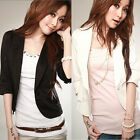 One Button Small Suit Womens Ladies Black White Jacket Coat Hot New Fashion Sexy