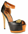 Ladies Womens Sexy High Heel Platform Stiletto Peep Toe Sandal Pump Court Shoes