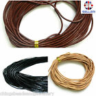 Genuine Leather Cord 1.5mm String Thong Jewellery Making