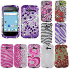 For Huawei Ascend Y M866 Cover Bling Diamond Gem Rhinestones Cell Phone Case