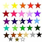 20 SOLID GLOSS VINYL TRANSFER STAR STICKERS CAR BEDROOM WALL ART BIKE  GLASS