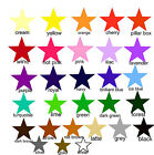 28 SOLID STAR STICKERS CAR BIKE BEDROOM WALL ART HELMET MIRROR TILES 3 SIZES