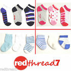 Red Robin New Kids Socks Baby Bootees Cotton Ankle Trainer Sports Sz 3 Pair Pack