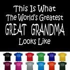 great female leaders of the world - Worlds Greatest GREAT GRANDMA Mothers Day Nana Birthday Anniversary Gift T Shirt