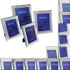 Two Tone Silver Plated Metal Photo Frame Picture Frames Various Designs & Sizes