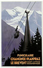 Vintage PLM FUNICULAIRE Chamonix Le Brevent Skiing/Travel Poster A1A2A3A4Sizes