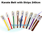 Karate Belt Judo Taekwondo Kung Fu Belts Cotton Material Martial Arts 240cm