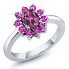 1.35 Ct Oval Pink Tourmaline Pink Sapphire 925 Silver Ring