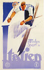 Winter Sports in ITALY Vintage E.N.I.T. Travel/Skiing Poster A1A2A3A4 Sizes