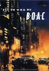 Vintage Travel Poster  FLY TO USA BY B.O.A.C A1,A2,A3,A4 Sizes