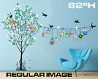 """Wall Decor Decal Sticker Mural Removable Frame Tree 82"""" H DC012582"""