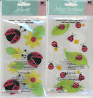 U CHOOSE  Jolee's LADY BUGS  LADY BUGS & DAISIES 3D Stickers