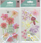 U CHOOSE  Jolee's COLORFUL ORCHIDS PINK FLOWERS 3D Stickers