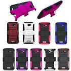 For HTC ONE X AT&T Rhino Hybrid Kickstand Cover Silicone Case