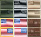 "USA Military American Flag Sew On Patch 2"" x 3"""