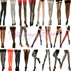 Yummy Bee Stockings Lace Hold Ups Seam Sheer Fishnet Tights Suspender Opaque XL