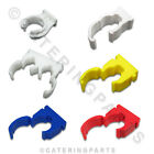 TALON ASSORTED COLOURED PIPE CLIPS OPEN SINGLE DOUBLE HINGED 15mm 22m 28mm TUBE