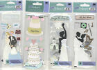 U CHOOSE  Jolee's FIRST DANCE TOSSING BOUQUET CUTTING WEDDING CAKE 3D Stickers