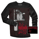 Steadfast Brand Tattoo Machine Men's Black Thermal Longsleeve Shirt SM - XL