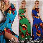 NEW SEXY ONE SHOULDER MAXI DRESS online WOMENS SUMMER FASHION PRINT DRESSES gown