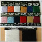10 METRES DECORATIVE METALLIC GLITTER THREAD EMBROIDERY LOTS OF COLOUR CHOICE