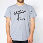 GAME OF HORSESHOES funny hip college drinking new shirt GREY MENS T-shirt 345