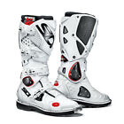 NEW SIDI CROSSFIRE 2 TA MX MOTOCROSS DIRT BIKE OFFROAD BOOTS WHITE WHT ALL SIZES