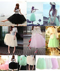 Multi-layered tulle skirt new women's elastic stretch candy color tutu petticoat