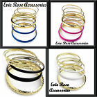 New 6 piece Gold & coloured Enamel Stacking Bohemian Chic Statement Bangle set