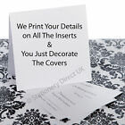 25 Personalised Pocketfold Wedding Invitations -We Print Your Details on Inserts