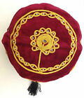 Smoking cap hat Black tassel NEW Mans red burgundy Choice of size small medium L