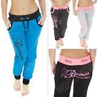 New Womens Ladies American Sport Tracksuit Jogging Bottoms Joggers Size 8 10 14