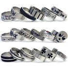 Mens Stainless Steel Jewellery Band Rings - Choose Your Style And Size