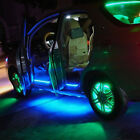 Vehicle Car Decoration White/blue 1210/5050 SMD LED Light Strip w/ Sticker 5M