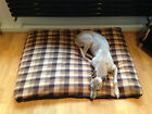 Brown Check Fleece Deluxe Waterproof Dog Bed,Dog Beds,Pet Beds,Dogbed,Dogbeds