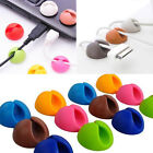 New 6pcs Multipurpose CableDrop Wire Cable Drop Clips Holder Organizer