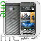 CHROME Carbon FULL BODY For HTC One M7 Skin Wrap Cover Sticker Protector CARBON