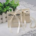 Multi-Qty New Light Yellow Scalloped Favor Boxes Wedding Gift Candy Box