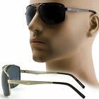 Polarized Aviator Sunglasses Designer Mens Shades Sunnies Squared Metal New 505