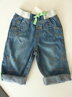 NEXT Little Boys Funky Bright Green Trim Jeans NWT