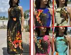 L18 Summer Boho beach wedding flowers smocked maxi long sundress 6 8 10 S M