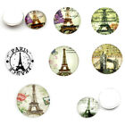 Glass Dome Cabochons Flatback Patterned Round 16mm M1319