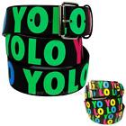 YOLO Printed Leather Belt Y.O.L.O. You Only Live Once The Motto Drake Urban Swag