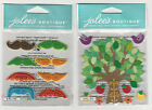 U CHOOSE  Jolee's MINI COLORFUL MOUSTACHES COLORFUL STITCHED TREE 3D Stickers