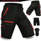MTB Cycling Short Off Road Cycle With CoolMax Padded Liner Shorts Size M, L, XL
