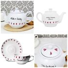 PERSONALISED TEA CUP & SAUCER OR TEAPOT Tea Lovers Mum Birthday New Home Gift