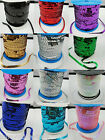 10 Yards 6mm Sequin Cord Paillette Tape Trimmings Bags Clothes Shoes Sewing DIY